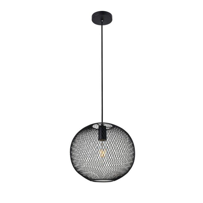 Living District Keller 1 Light Black Pendant (LD2249BK)