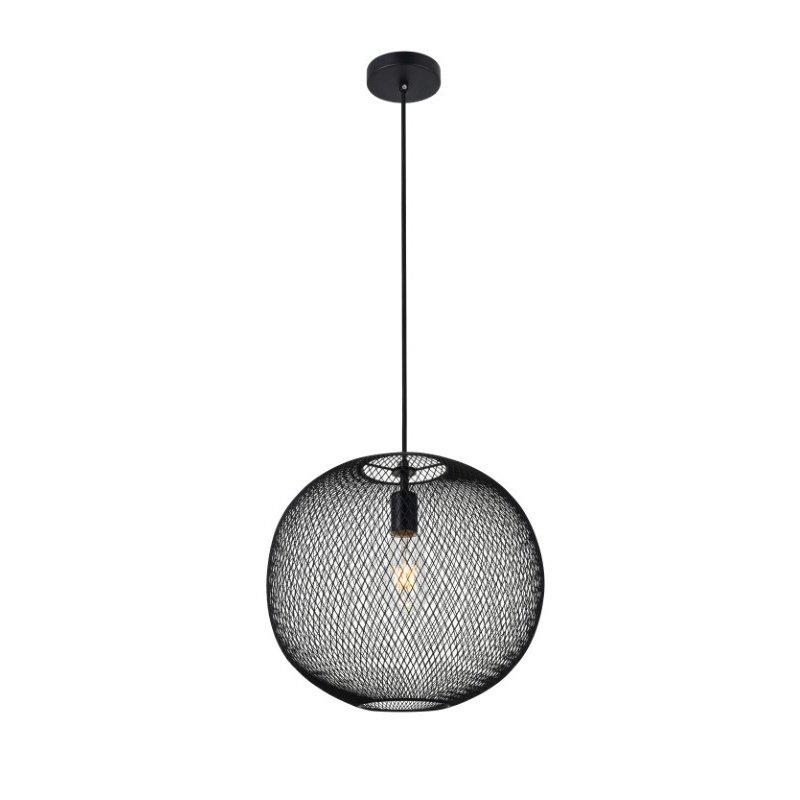 Living District Keller 1 Light Black Pendant (LD2251BK)