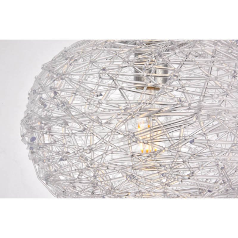 """Living District Lilou Collection Pendant D11.8"""" H9.3 Lt-1 Chrome and Clear Finish (LDPD2068)"""