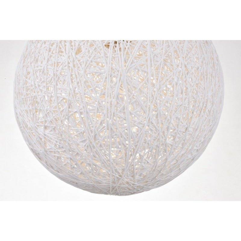 Living District Malibu 1 Light Brass Pendant with Frosted White Glass (LD2233BR)