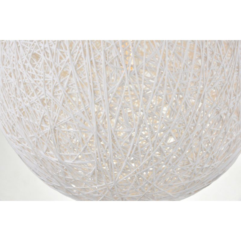 Living District Malibu 1 Light Chrome Pendant with Frosted White Glass (LD2234C)