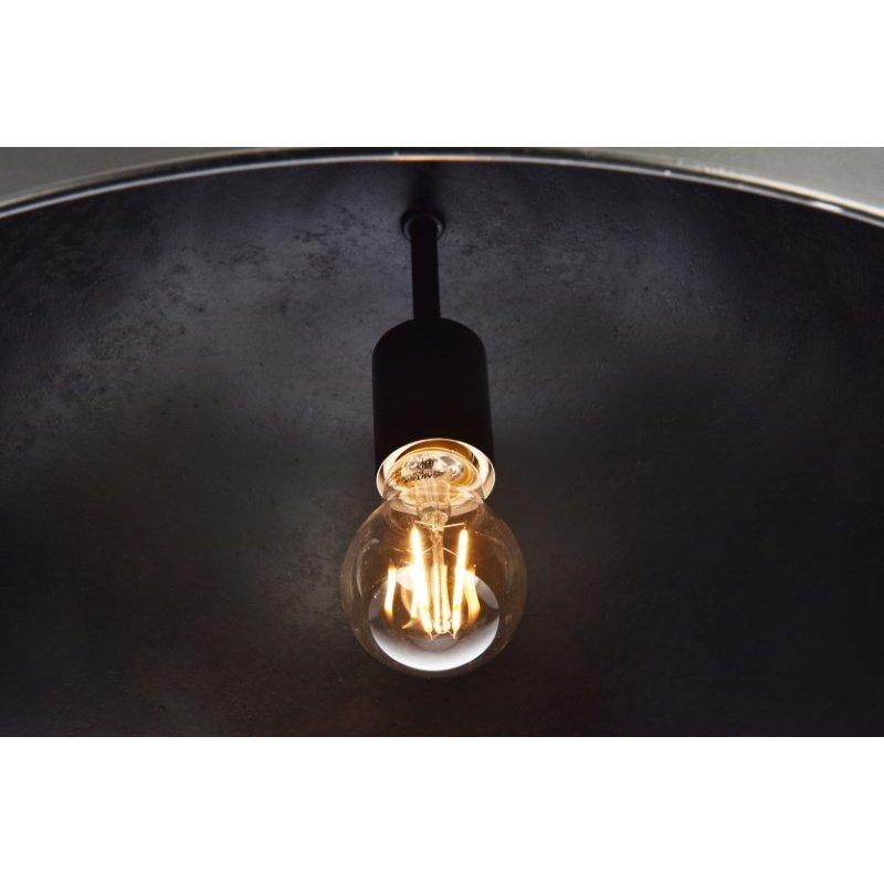 Living District Merce Collection Pendant D20 H12.75 Lt-1 Vintage Black Finish (LD6013D20BK)
