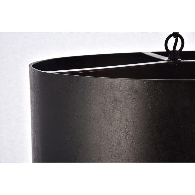 Living District Miro Collection Pendant D20 H11.75 Lt-3 Vintage Black Finish (LD6015D20BK)