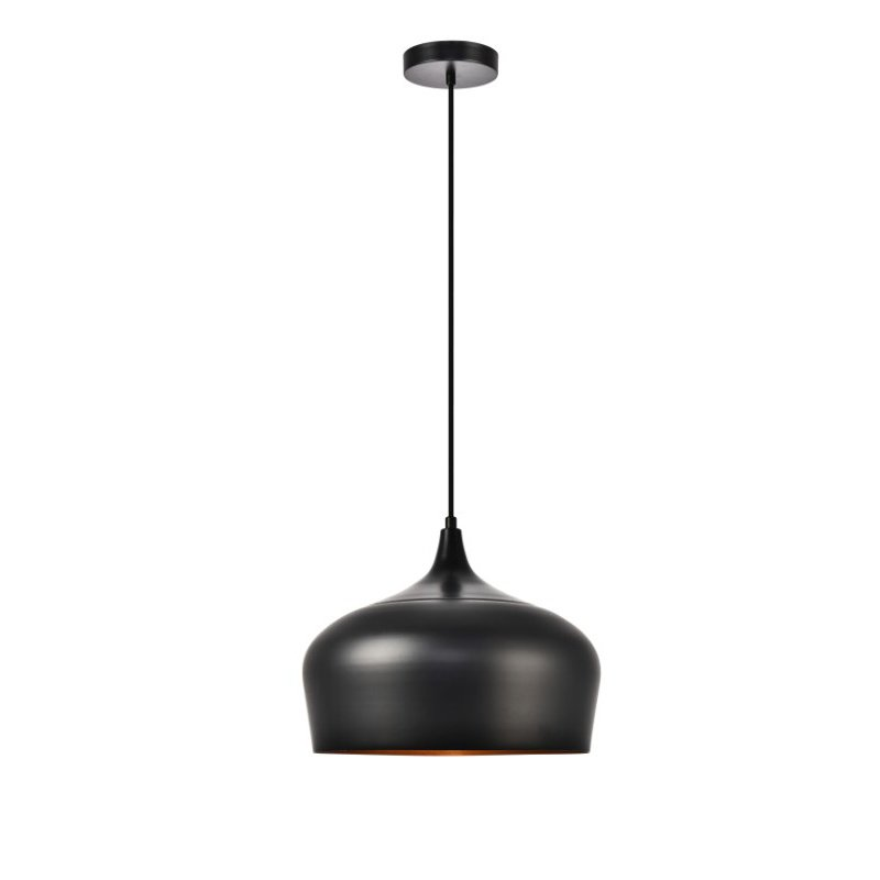 Living District Nora Collection Pendant D11.5in H9in Lt-1 Black finish (LDPD2003)