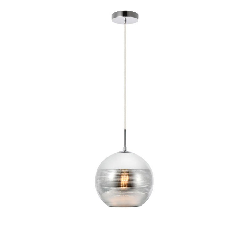 Living District Reflection Collection Pendant D9.5in H9.5in Lt-1 Chrome finish (LDPD2012)