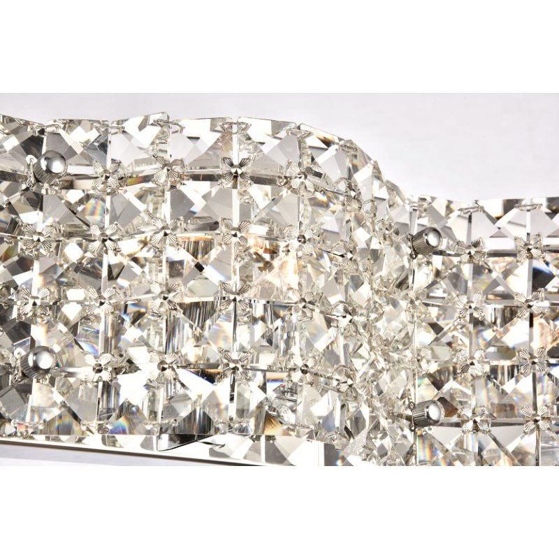 Living District Tate Collection Wall Sconce D20.6 H4.7 Lt-3 Chrome Finish (LD7001W21C)