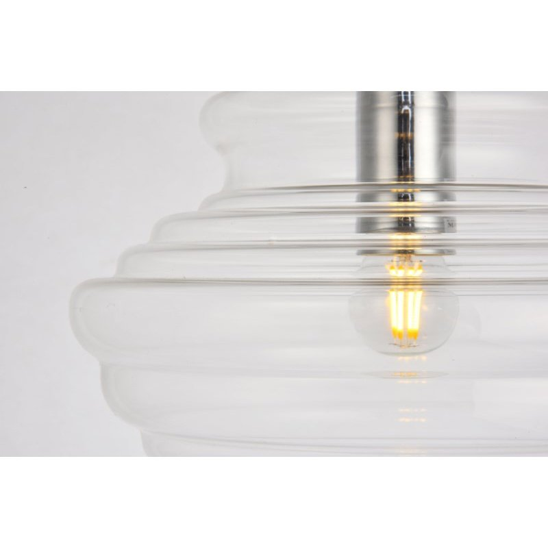 Living District Topper Collection Pendant D10.6 H10.5 Lt-1 Copper and clear Finish (LDPD2103)