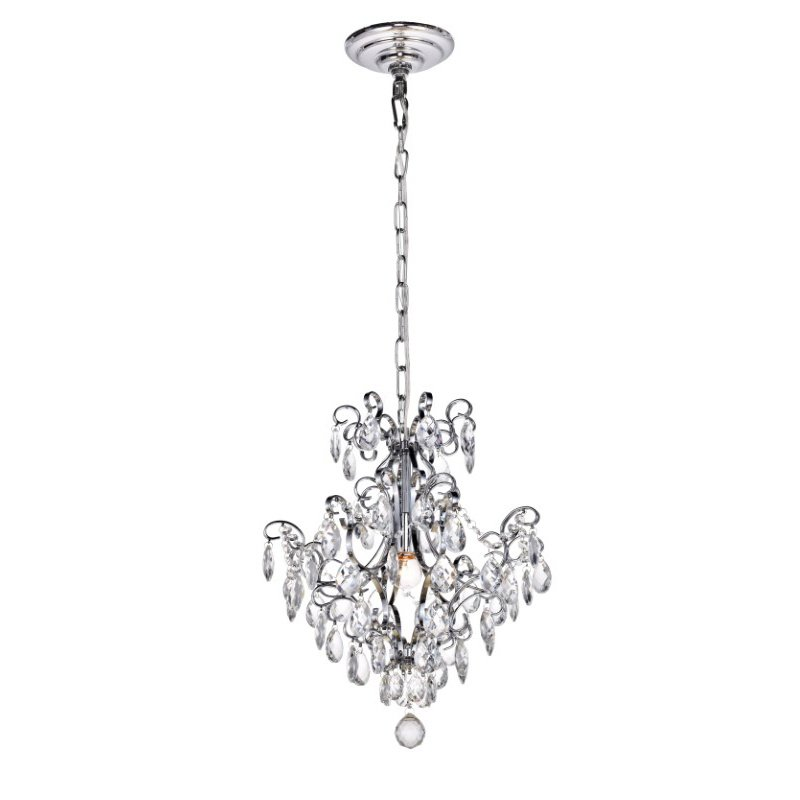 Living District Vivian Collection Pendant D16 H18 Lt-1 Chrome Finish (LD4004D16C)