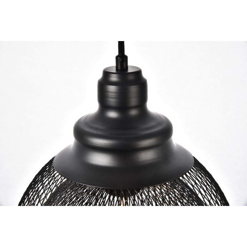 Living District Warren Collection Pendant D10in H9in Lt-1 Black Finish (LDPD2031)