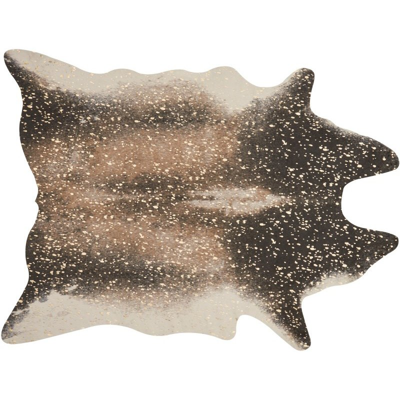 """Loloi II Bryce BZ-04 3' 10"""" x 5' Rectangle Rug in Mocha and Gold (BRYCBZ-04MCGO3A50)"""
