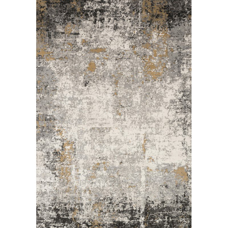 """Loloi II Alchemy ALC-02 Power Loomed 2' 8"""" x 13' Runner Rug in Granite and Gold (ALCHALC-02GNGO28D0)"""