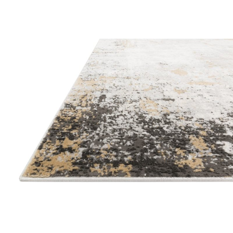 """Loloi II Alchemy ALC-02 Power Loomed 2' 8"""" x 4' Rectangle Rug in Granite and Gold (ALCHALC-02GNGO2840)"""