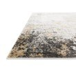 """Loloi II Alchemy ALC-02 Power Loomed 6' 7"""" x 9' 2"""" Rectangle Rug in Granite and Gold (ALCHALC-02GNGO6792)"""