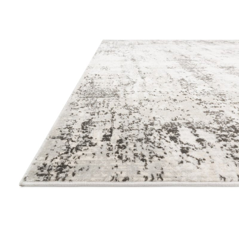 """Loloi II Alchemy ALC-04 Power Loomed 2' 8"""" x 7' 6"""" Runner Rug in Silver and Graphite (ALCHALC-04SIGT2876)"""