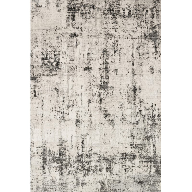 """Loloi II Alchemy ALC-04 Power Loomed 5' 3"""" x 7' 6"""" Rectangle Rug in Silver and Graphite (ALCHALC-04SIGT5376)"""