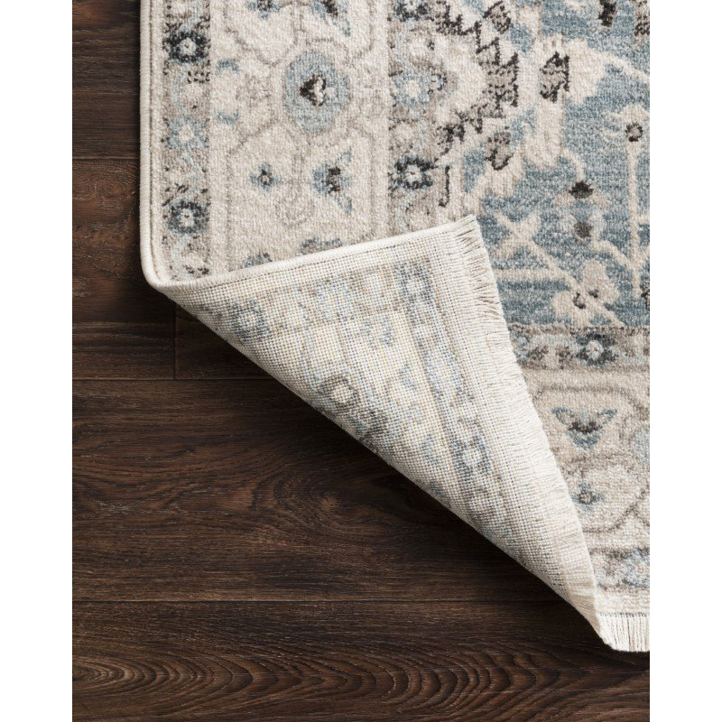 """Loloi II Athena ATH-02 Traditional Power Loomed 3' 3"""" x 4' 10"""" Rectangle Rug in Sky and Ivory (ATHEATH-02SCIV334A)"""
