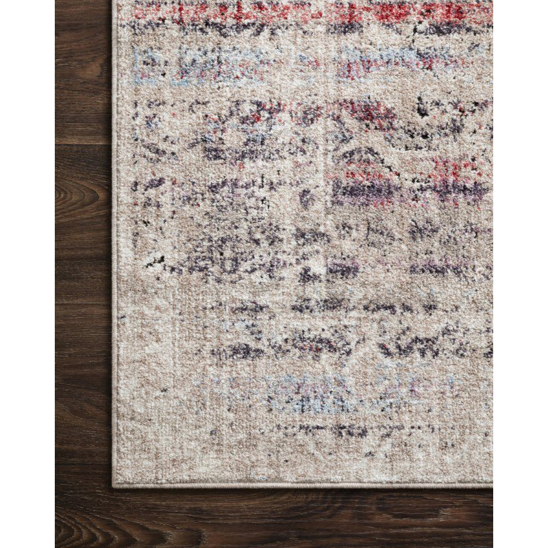 """Loloi II Dante DN-02 Transitional Power Loomed 3' 11"""" x 5' 7"""" Rectangle Rug in Beige and Multi (DANTDN-02BEML3B57)"""