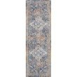 """Loloi II Dante DN-04 Transitional Power Loomed 1' 6"""" x 1' 6"""" Sample Swatch Rug in Multi and Stone (DANTDN-04MLSN160S)"""