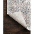 """Loloi II Dante DN-05 Transitional Power Loomed 6' 7"""" x 9' 2"""" Rectangle Rug in Ivory and Stone (DANTDN-05IVSN6792)"""
