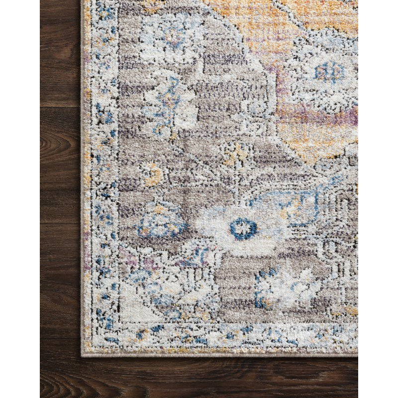 "Loloi II Dante DN-06 Transitional Power Loomed 5' 3"" x 7' 2"" Rectangle Rug in Natural and Sunrise (DANTDN-06NASR5372)"