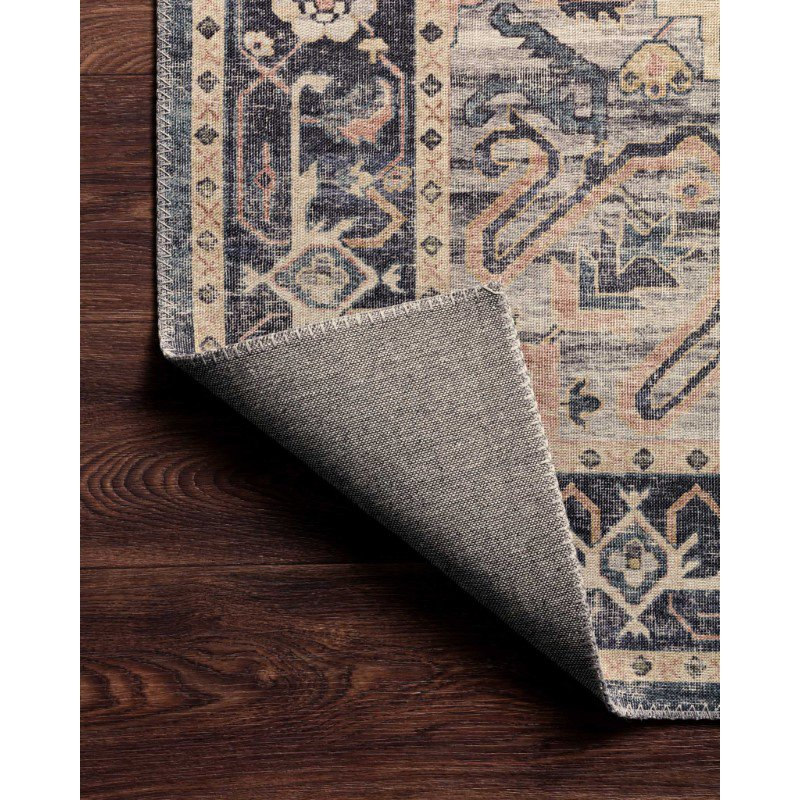 """Loloi II Hathaway HTH-01 Traditional Power Loomed 5' x 7' 6"""" Rectangle Rug in Navy and Multi (HATHHTH-01NVML5076)"""