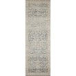"""Loloi II Hathaway HTH-02 Traditional Power Loomed 7' 6"""" x 9' 6"""" Rectangle Rug in Denim and Multi (HATHHTH-02DEML7696)"""