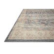 Loloi II Hathaway HTH-02 Traditional Power Loomed 9' x 12' Rectangle Rug in Denim and Multi (HATHHTH-02DEML90C0)