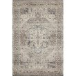 """Loloi II Hathaway HTH-05 Traditional Power Loomed 7' 6"""" x 9' 6"""" Rectangle Rug in Steel and Ivory (HATHHTH-05STIV7696)"""
