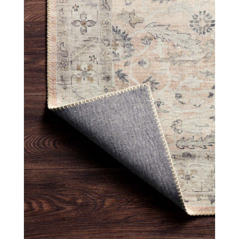 """Loloi II Hathaway HTH-06 Traditional Power Loomed 3' 6"""" x 5' 6"""" Rectangle Rug in Rust and Multi (HATHHTH-06RUML3656)"""