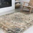 Loloi II Isadora ISA-02 Transitional Power Loomed 8' x 10' Rectangle Rug in Oatmeal and Bark (ISADISA-02OTBS80A0)