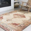 Loloi II Isadora ISA-04 Transitional Power Loomed 4' x 6' Rectangle Rug in Ant. Ivory and Sunset (ISADISA-04AISS4060)