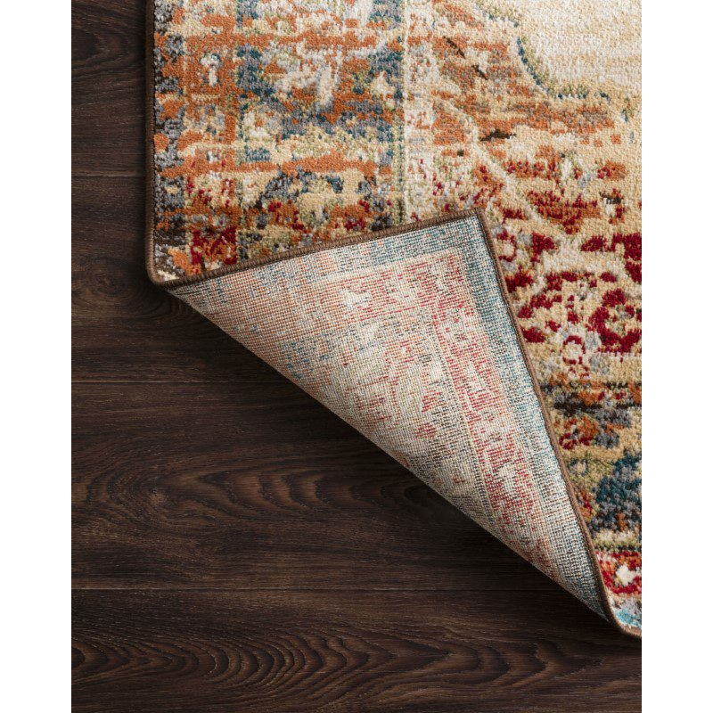 Loloi II Isadora ISA-04 Transitional Power Loomed 8' x 10' Rectangle Rug in Ant. Ivory and Sunset (ISADISA-04AISS80A0)