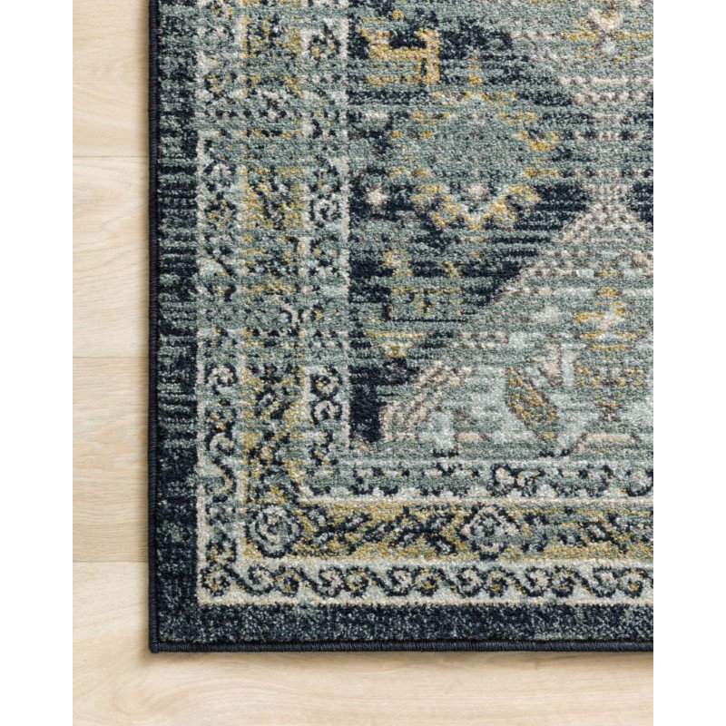"Loloi II Jocelyn JOC-02 Transitional Power Loomed 2' 3"" x 4' Rectangle Rug in Navy and Blue (JOCEJOC-02NVBB2340)"