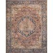 """Loloi II Layla LAY-08 5' x 7' 6"""" Rectangle Rug in Red and Navy (LAYLLAY-08RENV5076)"""