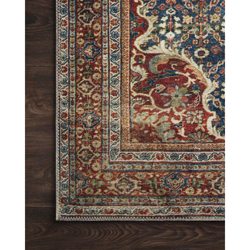 "Loloi II Layla LAY-09 2' 6"" x 7' 6"" Runner Rug in Cobalt Blue and Spice (LAYLLAY-09CUSQ2676)"