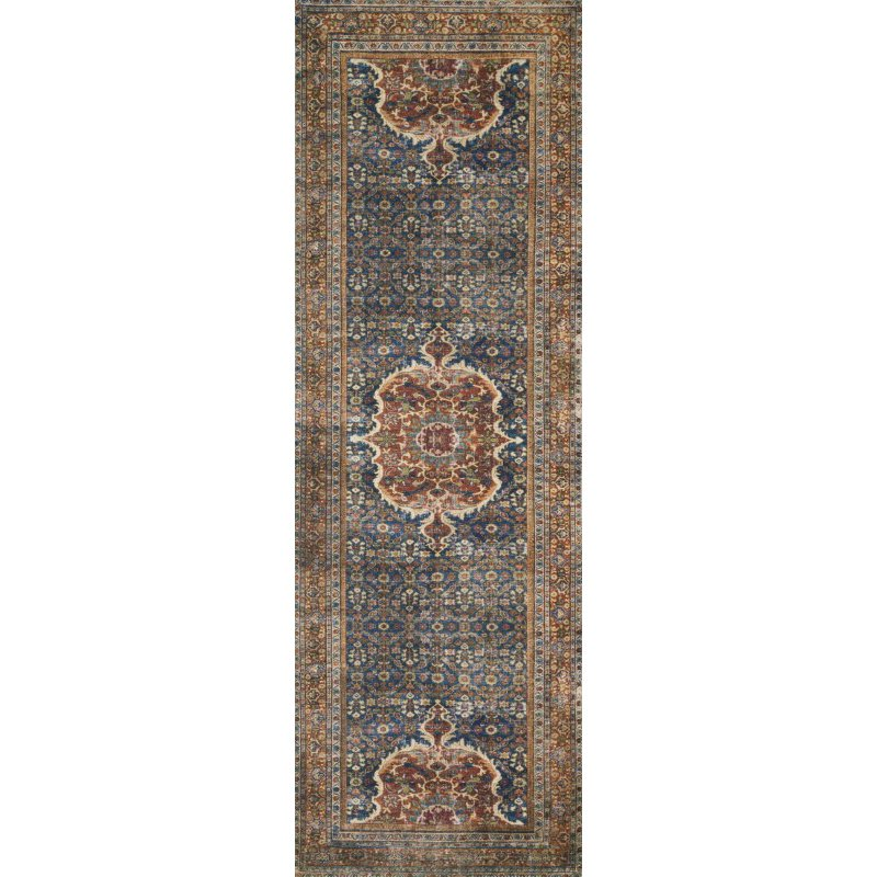 """Loloi II Layla LAY-09 5' x 7' 6"""" Rectangle Rug in Cobalt Blue and Spice (LAYLLAY-09CUSQ5076)"""