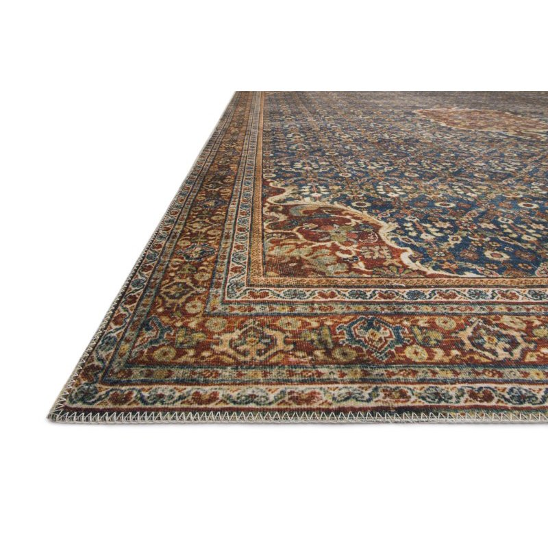 Loloi II Layla LAY-09 9' x 12' Rectangle Rug in Cobalt Blue and Spice (LAYLLAY-09CUSQ90C0)