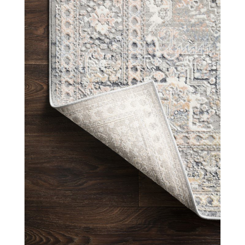 """Loloi II Lucia LUC-01 Transitional Power Loomed 4' x 5' 7"""" Rectangle Rug in Grey and Sunset (LCIALUC-01GYSS4057)"""