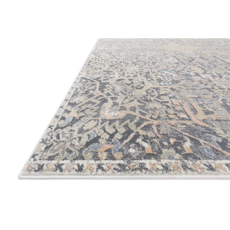 """Loloi II Lucia LUC-02 Transitional Power Loomed 5' 2"""" x 7' 7"""" Rectangle Rug in Charcoal and Multi (LCIALUC-02CCML5277)"""