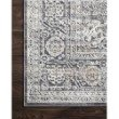 """Loloi II Lucia LUC-03 Transitional Power Loomed 4' x 5' 7"""" Rectangle Rug in Steel and Ivory (LCIALUC-03STIV4057)"""