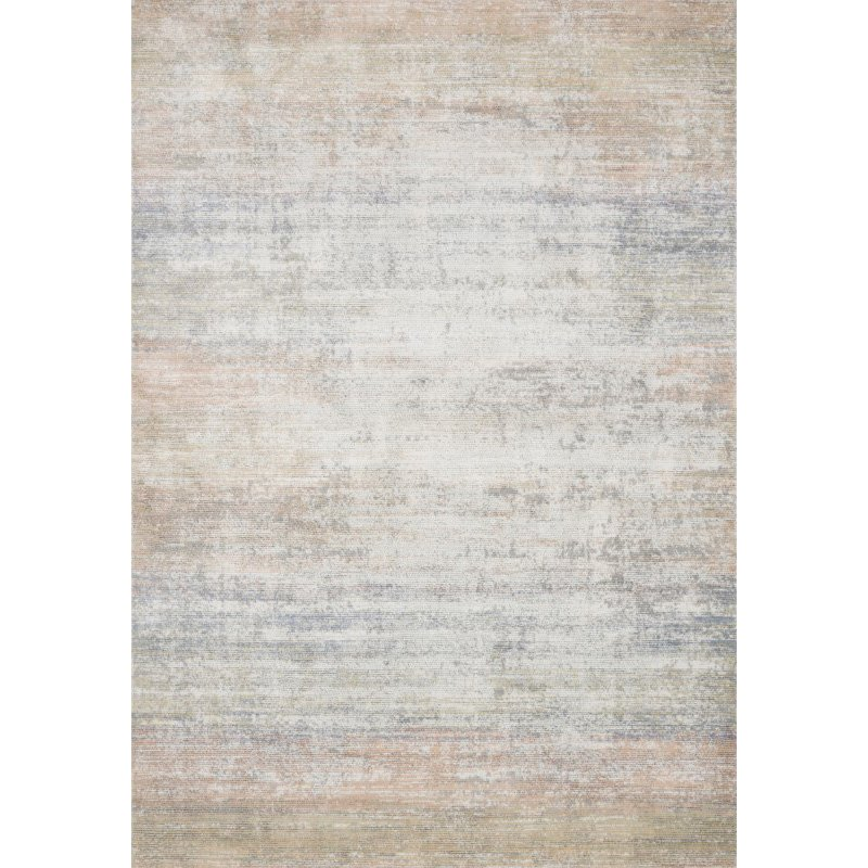 "Loloi II Lucia LUC-05 Transitional Power Loomed 5' 2"" x 7' 7"" Rectangle Rug in Mist (LCIALUC-05MI005277)"