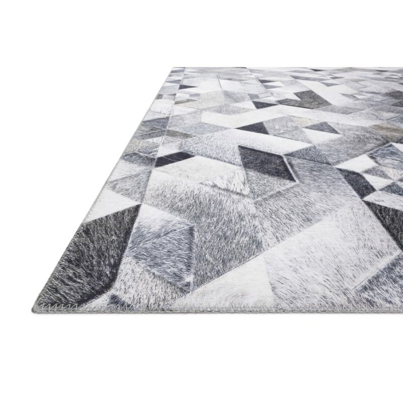 "Loloi II Maddox MAD-03 Contemporary Power Loomed 2' 3"" x 3' 9"" Rectangle Rug in Grey and Ivory (MADDMAD-03GYIV2339)"