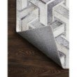 """Loloi II Maddox MAD-05 Contemporary Power Loomed 5' x 7' 6"""" Rectangle Rug in Silver and Ivory (MADDMAD-05SIIV5076)"""