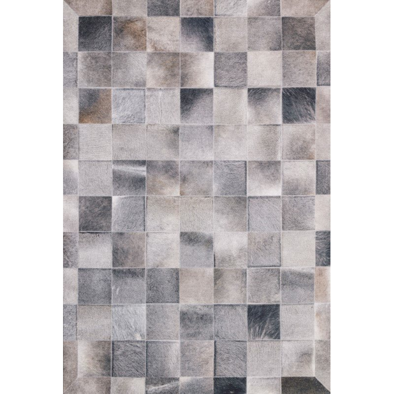 """Loloi II Maddox MAD-06 Contemporary Power Loomed 3' 6"""" x 5' 6"""" Rectangle Rug in Charcoal and Grey (MADDMAD-06CCGY3656)"""