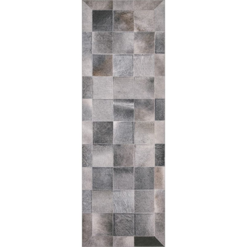 """Loloi II Maddox MAD-06 Contemporary Power Loomed 7' 6"""" x 9' 6"""" Rectangle Rug in Charcoal and Grey (MADDMAD-06CCGY7696)"""