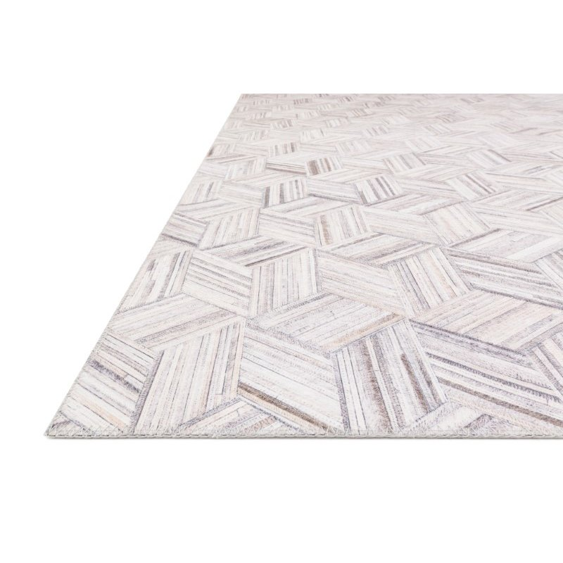 "Loloi II Maddox MAD-07 Contemporary Power Loomed 5' x 7' 6"" Rectangle Rug in Lt Grey and Ivory (MADDMAD-07LCIV5076)"