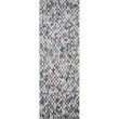 """Loloi II Maddox MAD-08 Contemporary Power Loomed 7' 6"""" x 9' 6"""" Rectangle Rug in Ocean and Grey (MADDMAD-08OCGY7696)"""