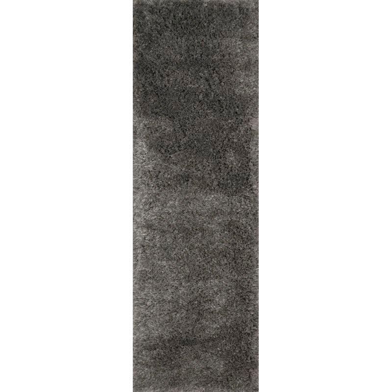 "Loloi II Mila Shag MIL-01 Hand Tufted 5' x 7' 6"" Rectangle Rug in Charcoal (MMILMIL-01CC005076)"
