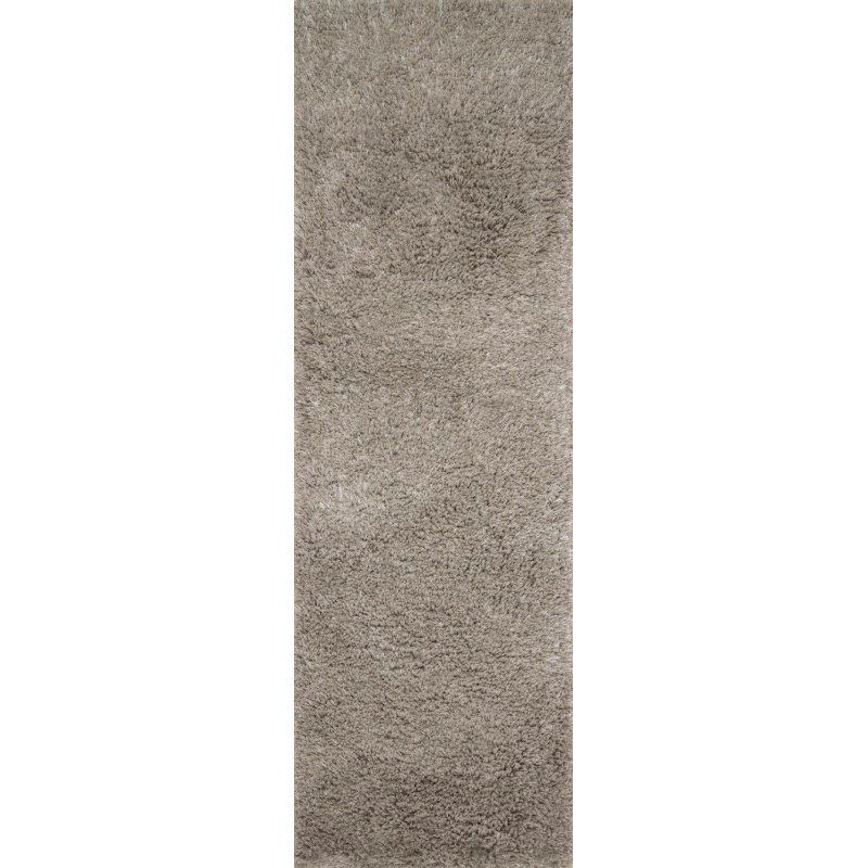 "Loloi II Mila Shag MIL-01 Hand Tufted 5' x 7' 6"" Rectangle Rug in Taupe (MMILMIL-01TA005076)"