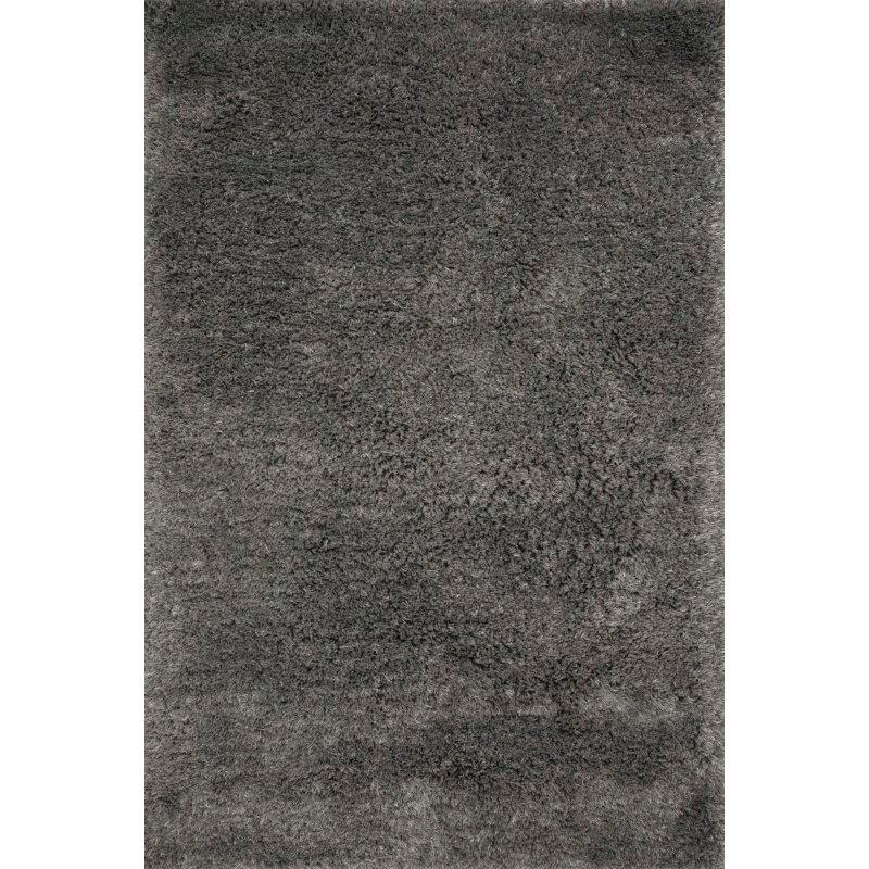 "Loloi II Mila Shag MIL-01 Hand Tufted 7' 9"" x 9' 9"" Rectangle Rug in Charcoal (MMILMIL-01CC007999)"